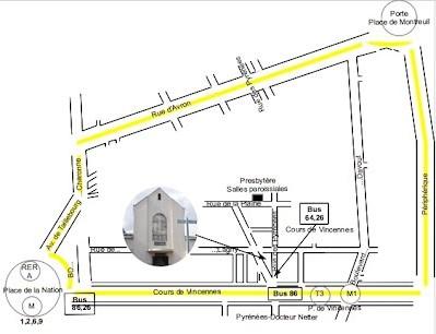 Plan de la paroisse Saint gabriel
